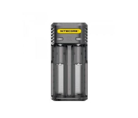 Chargeur Nitecore Q2, Chargeur de batteries intelligent pour toutes les batteries cylindriques Li-ion et IMR.