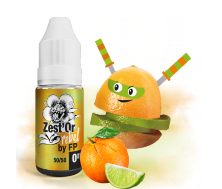 Zest'Or - Rebel (Flavour Power), un juice frais et acidulé d'orange et de citron Vert...