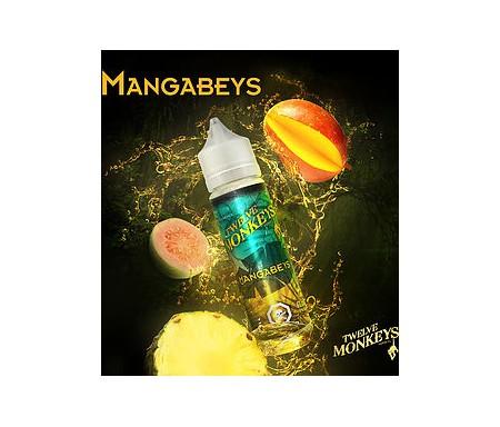 Mangabeys en 50 ml de chez Twelve Monkeys, un délicieux mélange de mangue, d'ananas et de goyave