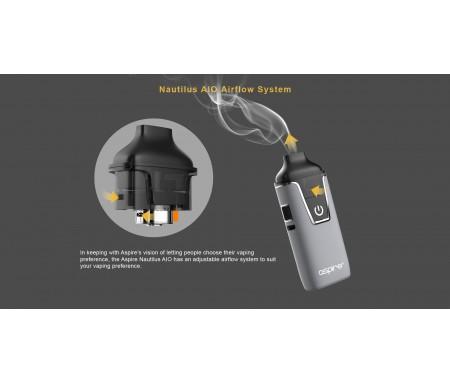 Kit e-cig Nautilus AIO POD - Airflow