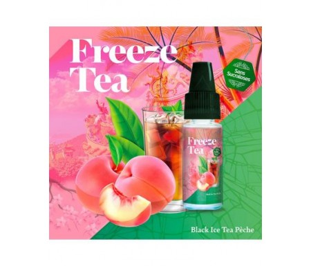 Black Ice Tea Pêche 10ml Freeze Tea - Made In Vape