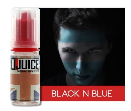 eliquide Black and blue par Tjuice : myrtille, raisin, menthol, anis