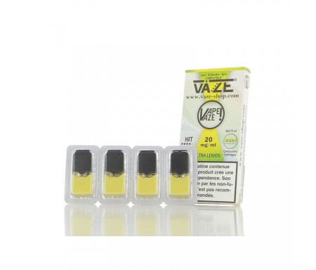 Cartouches ULTRA LEMON - Pour pod VAZE - 0.75 ml X 4