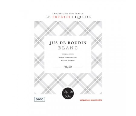 Jus de Boudin Blanc 50 ml - Le French Liquide