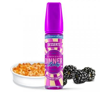 E-liquide Dinner Lady - Blackberry Crumble 0% sucralose